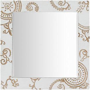 "Heradia Carved Wood 31"" x 31"" Mirror, , large"