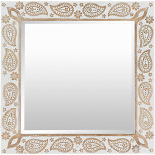"""Delphine Carved Wood 31"""" x 31"""" Mirror, , large"""