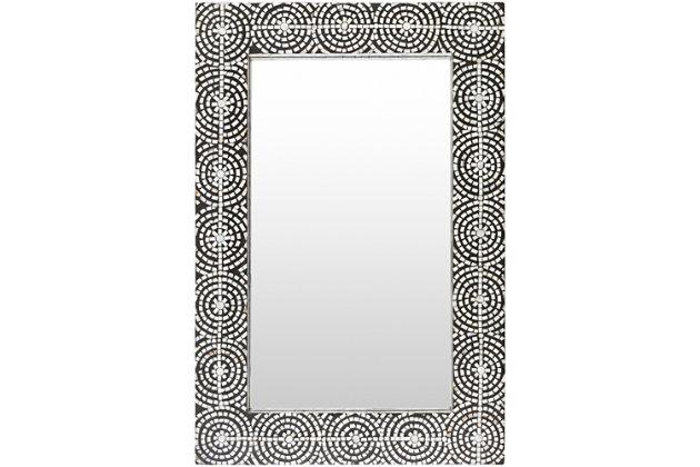 "Pinon Mosaic Black Frame 24"" x 36"" Mirror, , large"