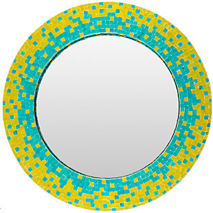 "Eckley Mosaic Style Multi-Color 31.5"" x 31.5"" Mirror, , large"
