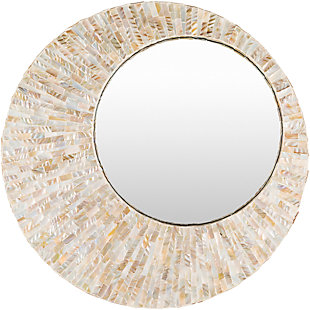 """Home Accents Mother of Pearl 31"""" x 31"""" Mirror, , large"""