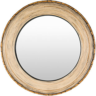 """Home Accents Bamboo Round 31"""" x 31"""" Mirror, , large"""