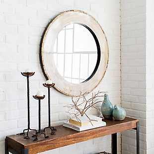 """Home Accents Bamboo Round 31"""" x 31"""" Mirror, , rollover"""