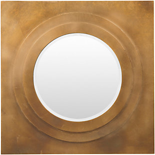 "Home Accents Square Metal 30"" x 30"" x 2.25"" Round Mirror, , large"