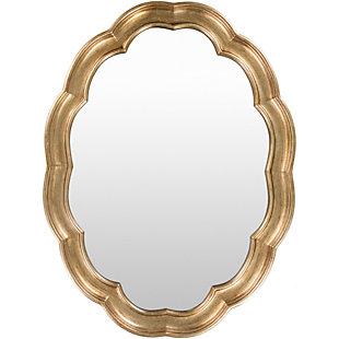 """Milburn Quatrefoil Design 40"""" x 30"""" x 1.5"""" Mirror, , large"""