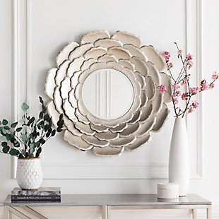 """Home Accents Flower 32"""" x 32"""" x 2"""" Mirror, , large"""