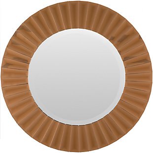 """Home Accents Copper Round Frame 24"""" x 24"""" Mirror, , large"""