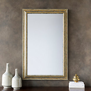"Roseville Embossed  Gold 47"" x 30"" Mirror, , rollover"