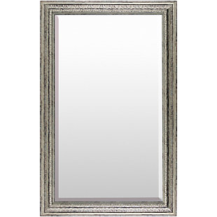 "Roseville Embossed  Silver 47"" x 30"" Mirror, , large"