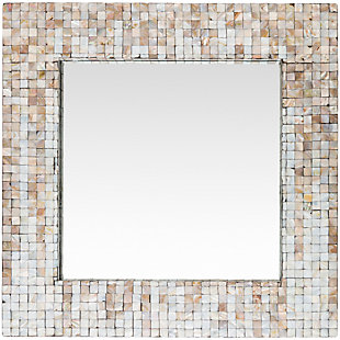 "Hornbrook Mother of Pearl Square 23.6"" x 23.6"" Mirror, , large"