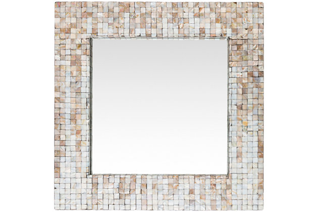 """Hornbrook Mother of Pearl Square 23.6"""" x 23.6"""" Mirror, , large"""
