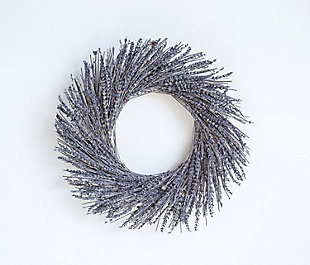 Dried Natural Lavender Wreath in Box, , rollover