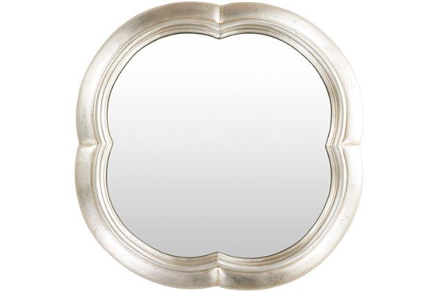 """Milburn Quatrefoil 30"""" x 30"""" x 1"""" Mirror, , large"""
