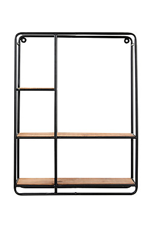 Creative Co-Op 24 Inch Wood and Iron Shelf, , large