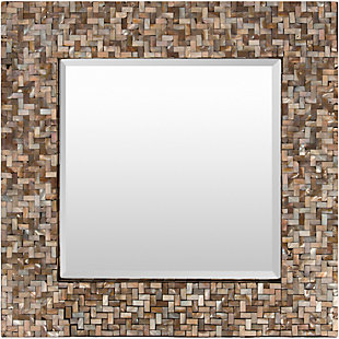 "Home Accents Mother of Pearl 23.6"" x 23.6"" x 1"" Mirror, , rollover"