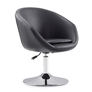 Manhattan Comfort Hopper Chair, Black/Polished Chrome, large