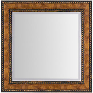 "Home Accents Wood Beaded Detail 24"" x 24"" Mirror, , large"