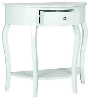 Jan Demilune Console Table, Celadon, large