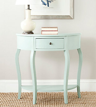 Jan Demilune Console Table, Celadon, rollover