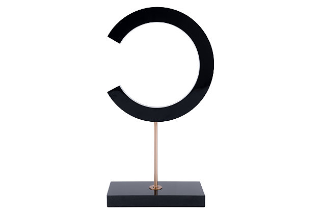 C-Shape Sculpture With Marble Stand, , large