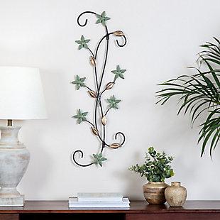 Katelyn  Star Floral Scroll Metal Wall Art, , rollover