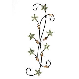 Katelyn  Star Floral Scroll Metal Wall Art, , large