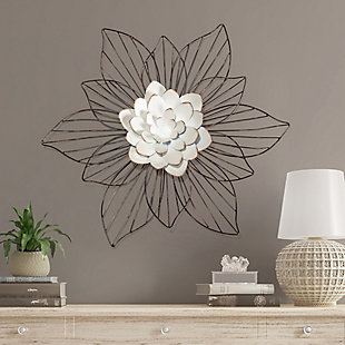 Leith  Layered Floral Metal Wall Art, , rollover