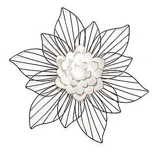 Leith  Layered Floral Metal Wall Art, , large