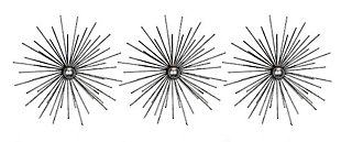 Cabers  Silver Starbursts Metal Wall Art, , large