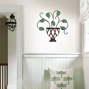 Lillian  Potted Plant Metal Wall Art, , rollover