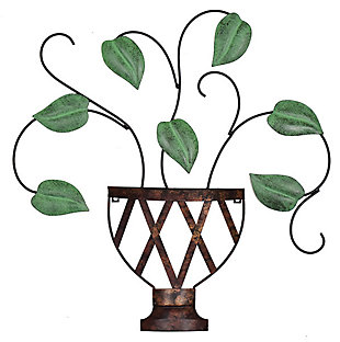 Lillian  Potted Plant Metal Wall Art, , large