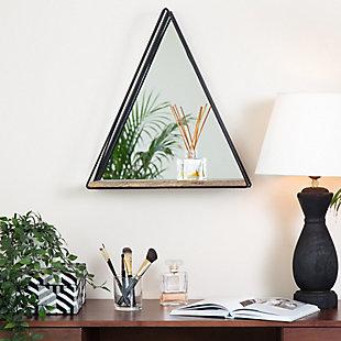 Gatana  Black Triangle Shelf Mirror, , rollover