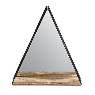 Gatana  Black Triangle Shelf Mirror, , large