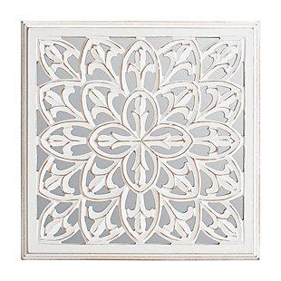 Meris  White Mirrored Medallion, , large