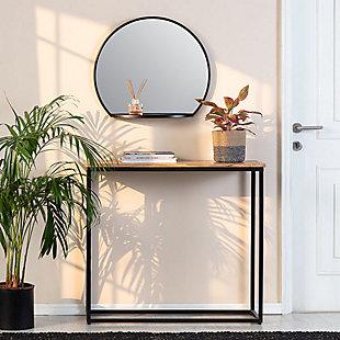 Evi  Black Shelf Mirror, , rollover