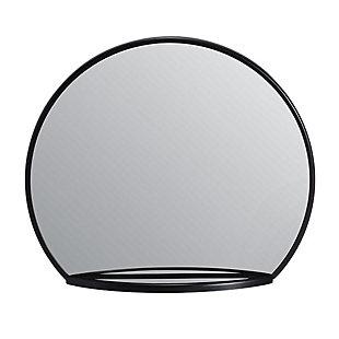 Evi  Black Shelf Mirror, , large