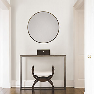 Adelina  Gold Circular Mirror, , rollover