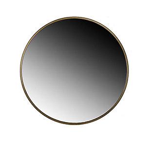 Adelina  Gold Circular Mirror, , large