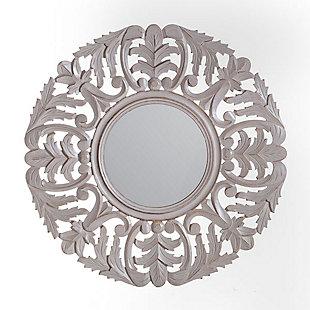 Tagen  Grey Carved Mirror, , large