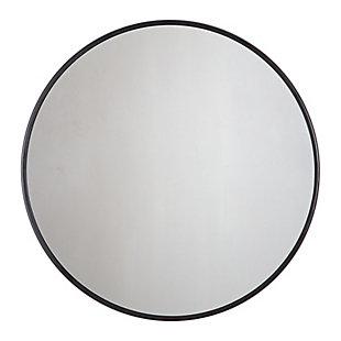 Adelina  Black Circular Mirror, , large