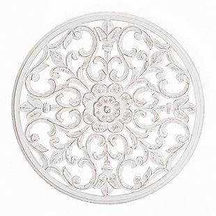 Bastia  White 30-in. Round Medallion, , large