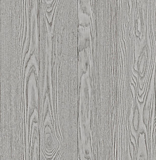 InHome Timber Gray Peel and Stick Wallpaper, Gray, rollover