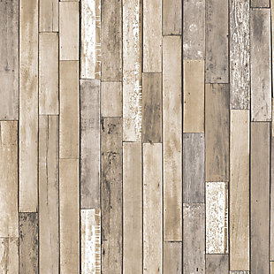 InHome Weathered Plank Barn Peel and Stick Wallpaper, , large