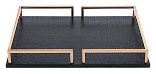 Square Geometric Rail Tray, , large