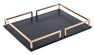 Square Geometric Rail Tray, , large