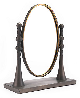 Oval Swivel Mirror With Stand, , large