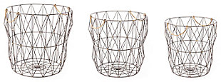 Wired Modern Basket (Set of 3), , rollover