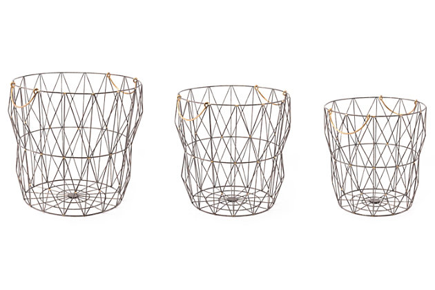 Wired Modern Basket (Set of 3), , large