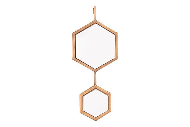 Bee Hexagon Wall Mirror, , large