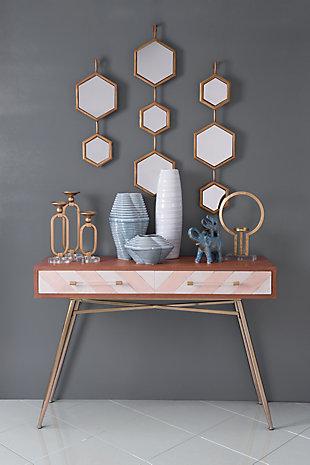 Bee Hexagon Wall Mirror, , rollover